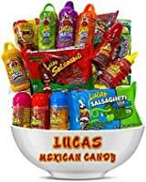 Lucas Mexican Candy Mix (14 Count) Variety of Sour, Sweet, Spicy, Include Skwinkles Rellenos, Pelucas, Muecas Chamoy,...
