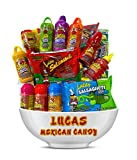 5. Lucas Mexican Candy Mix (14 Count) Variety of Sour, Sweet, Spicy, Include Skwinkles Rellenos, Pelucas, Muecas Chamoy, Watermelon, Mango, Baby Powder, Gusano, Salsagheti, Bomvaso, by Look-On