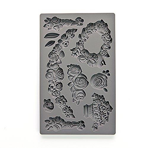 Prima Marketing Art Decor Moulds Moldes de decoración de Arte Vintage de IOD-Fleur, Flor