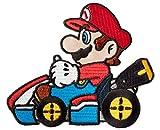 Mario Kart Aufnäher (80 mm) Super Mario Brothers bestickt zum Aufbügeln oder Aufnähen, Kostüm, Cosplay, Souvenir