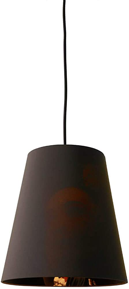 Karman cupido, lampada a sospensione,paralume in lino color antracite SE194CD INT