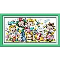 クロスステッチ 甘い愛 Diy 手作り刺繍キット正確な図柄印刷 クロスステッチ 家庭刺繍装飾品 14Ct ( インチ当たり14個の小さな格子)中程度の格子 -40X50Cm