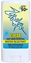 Zinka - Clear Zinc Oxide Sunscreen Face Stick SPF 50, Water Resistant for 80 Minutes - .49oz Stick