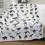 Nueasrs Dinosaur Blanket for Boys Teens - Soft Cozy Flannel Throw Blanket Funny Dinosaur Gifts for Jurassic Dinosaur Fans - Sofa Bed Plush Blanket Jurassic Park Dino Blanket 50X60 Inch