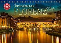 Impressionen aus FLORENZ (Tischkalender 2022 DIN A5 quer): Idylle und historische Bauten (Geburtstagskalender, 14 Seiten )