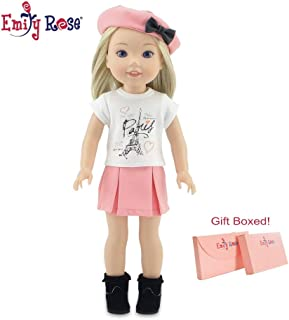 """Emily Rose Wellie Wisher 14 Inch Doll Clothes Parisian Doll Skirt Outfit, Including Boots!   Fits 14"""" Glitter Girls and We..."""