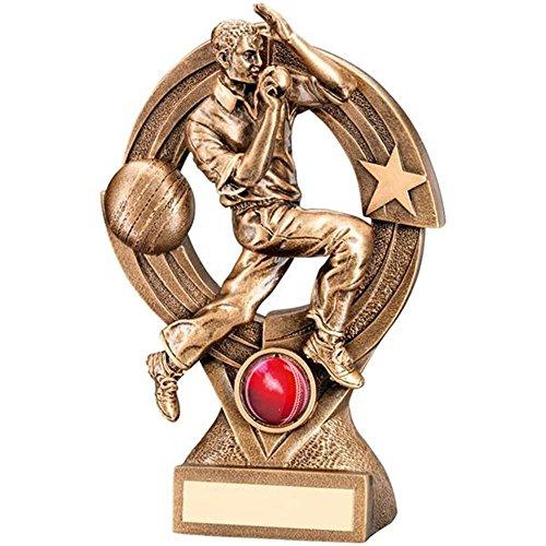 Kunstharz Stecker Cricket Trophy Award in 3Größen erhältlich mit gratis Gravur bis zu 30Buchstaben (17,8cm jr6-rf219b)