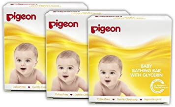 Pigeon Baby Bathing Bar (75g, Pack of 3)