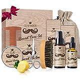 Beard Care Birthday Gift Kit for Men/Dad/Husband GLAMADOR 9-in-1 Beard Grooming Kit, Professional Beard Trimming Set,Beard Care Kits with Beard Wash,Beard Oil,Beard Balm Comb Brush Scissors