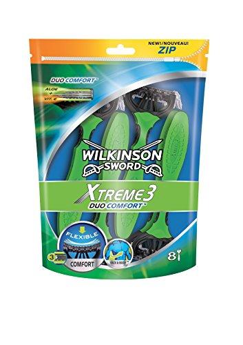 Wilkinson–Xtreme 3Duo comfort - Maquinillas de afeitar, desechables, para hombre