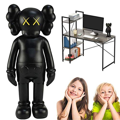 "8"" 20cm KAWS Companion Model Art Figurines Collectible Ornaments Easter/Christmas for Home Decoration, Party, Gift (Black)"