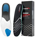 Caomaer Sports Insoles for Men and Women with Arch Support All Day Shock Absorption for Basketball Running Jogging, Orthotic Shoes Inserts for Relieve Foot Heel Pain, Flat Feet, Plantar Fasciitis