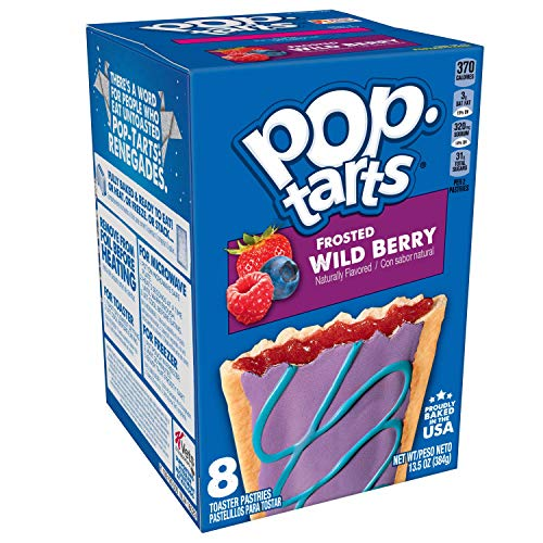 Pop-Tarts, Breakfast Toaster Pastries, Frosted Wild Berry, Proudly Baked in the USA, 13.5oz Box (Pack of 12)