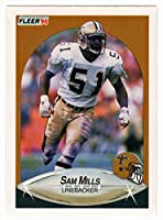 Sam Mills - New Orleans Saints (Football Card) 1990 Fleer # 194 Mint