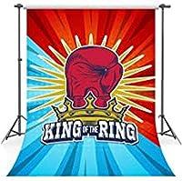 ZPCロードオブザリングブルーレッドボクシングの背景写真の背景お祝いパーティーの装飾写真の小道具ソフト生地5x7ft