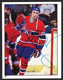 Doug Wickenheiser Autographed 1983-84 Topps Sticker Card #67 Montreal Canadiens - Certified Authentic