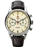 Oro SWAN cuello gaviota 1963 40MM zafiro cristal x drak marrón ST1901 reloj cronógrafo 1963 SU1963R40X