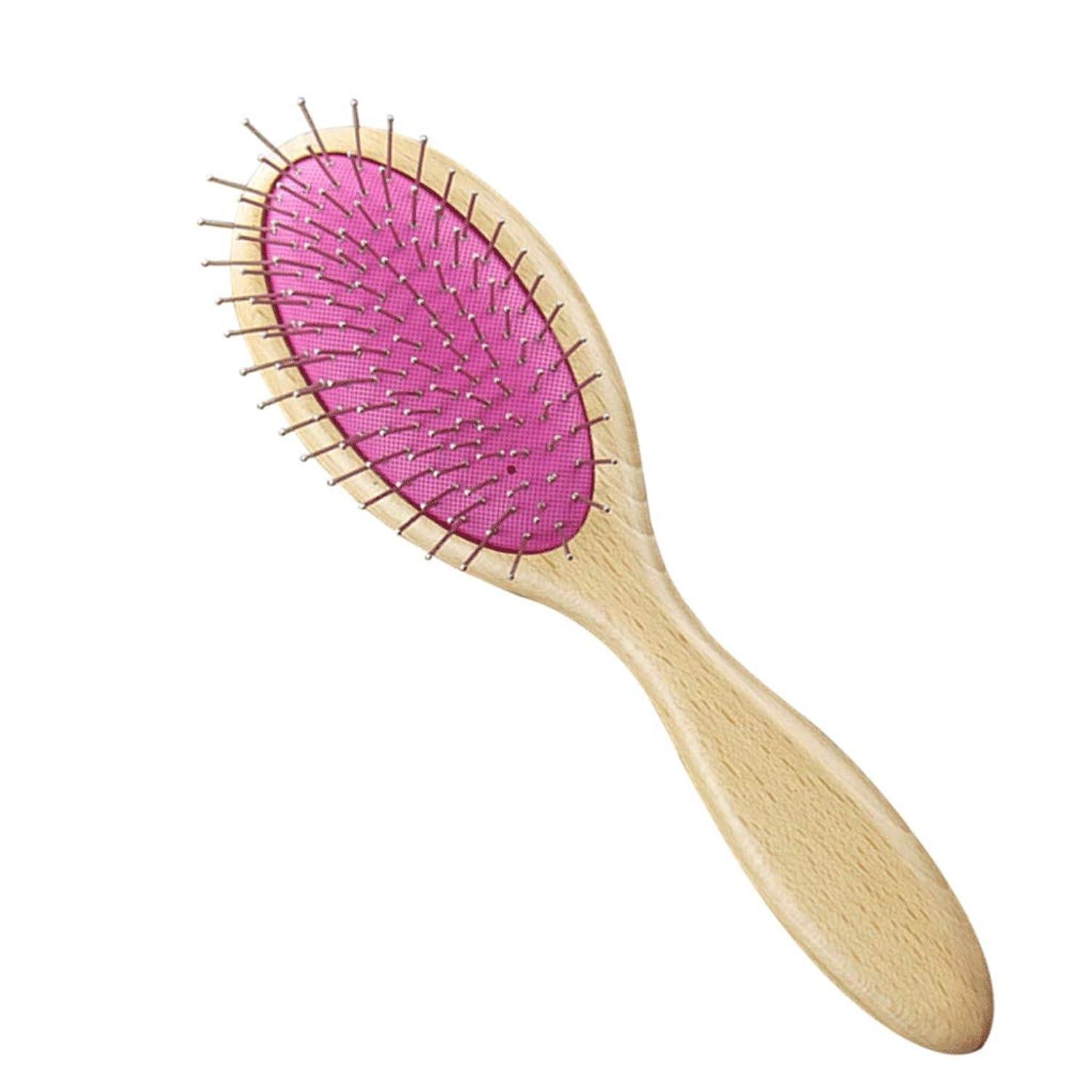 許される表現肥料くし児童エアバッグエアクッションコームマッサージヘッドメリディアンコームヘアコームヘアコームくしホームビッグくし (Color : Wood color)