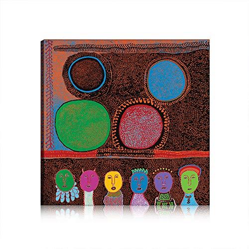 Yayoi Kusama Callum Innes Pittura Tela Stampa di Arte della Parete Pittura Immagini per Living Room Decor Unstretched (Art 8,100x160 cm)
