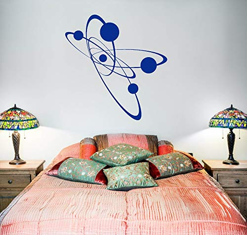 hetingyue Simple Atomic Electronics Bedroom Art Mural Decoration Vinyl Removable Vinyl Wall Sticker for Kids with Science Dream 63x64cm
