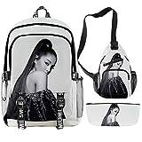 CQW Ariana Grande Digital Color Printing Campus Backpack Set periferico Borsa a tracolla Borsa a tracolla (42)