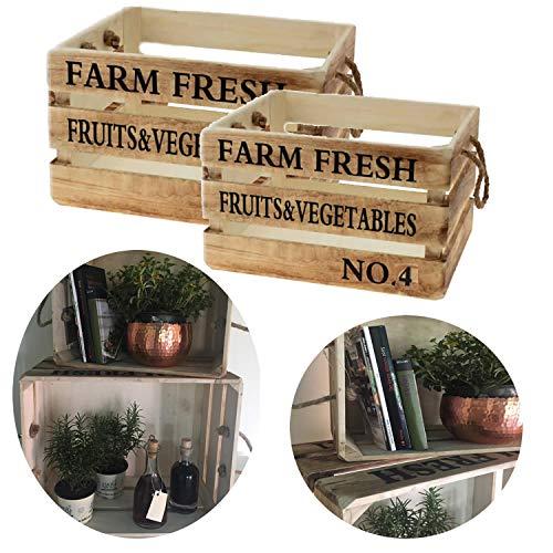 LS Design 2 Weinkisten Holzkisten Holzkiste Regal Obstkiste Shabby Vintage Landhaus