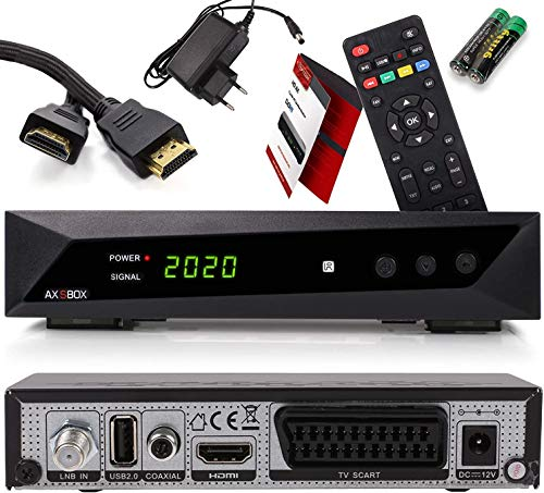 Opticum Decoder Satellitare HD e Lettore Multimediale per TV SBOX – Decoder TV Full HD 1080p DVB-S/S2 - Cavo HDMI Anadol Incluso