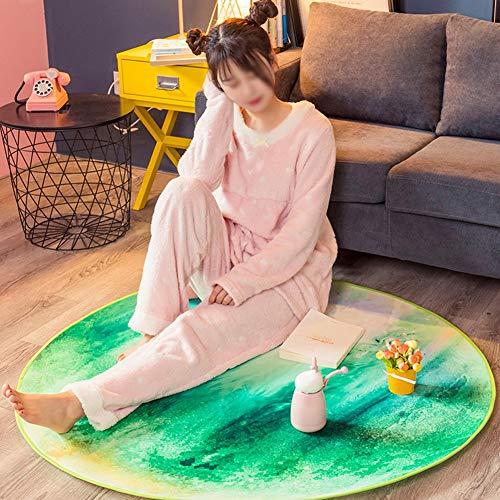 Planet tapijt, comfortabele voeten ademende stof haarloos tapijt goede zorg antislip (diameter 160 cm) 12,7 tapijt