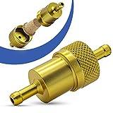 Universal Kraftstofffilter 8mm Aluminium Benzinfilter KFZ Auto Motorrad Gold