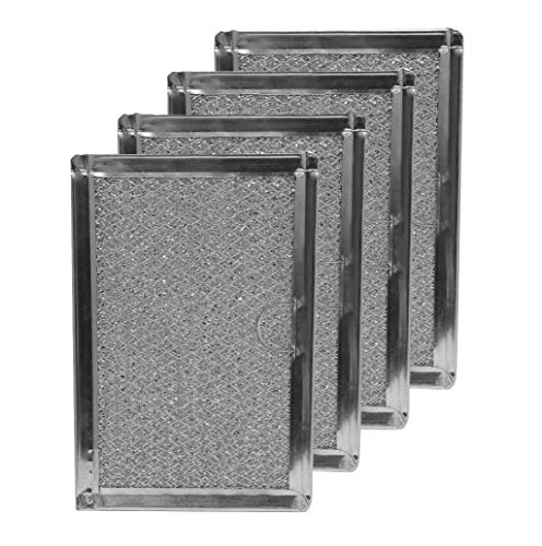 Frigidaire 5304464105, 5304478913 Microwave Grease Filter 5-1/16 x 7-5/8 x 1/8 Inches (Made in USA) (4-Pack)