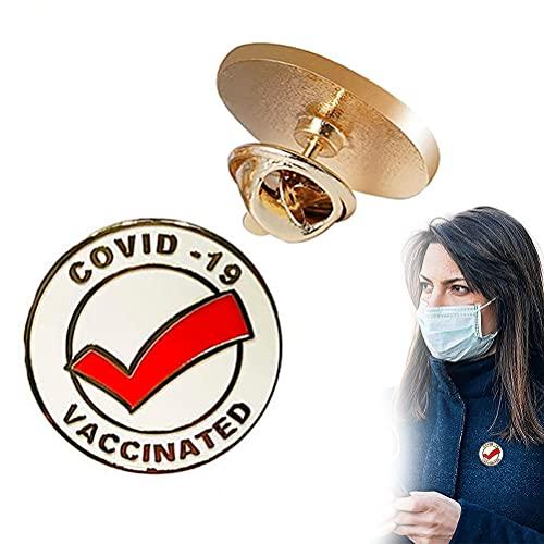 Guillala 1 Pieza Covid Botones de alfiler vacunados Aleación Vacuna Broches de...
