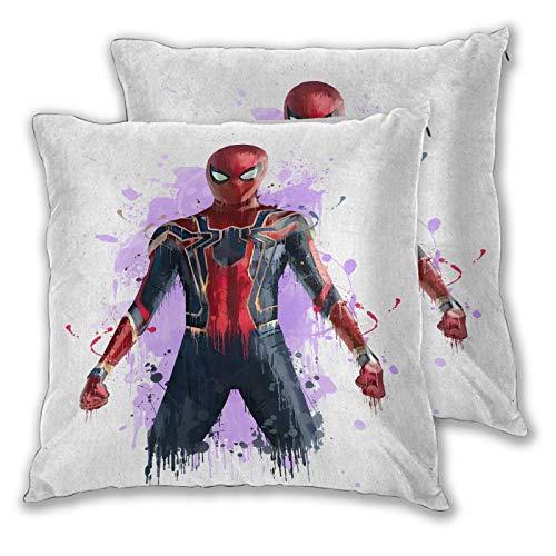 SSKJTC - Federa copricuscino per divano e letto, motivo: Spiderman della guerra dell'infinito 40 x 40 cm, confezione da 2