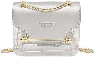 coil.c Damen Transparente Handtasche Gelee Crossbody Tasche für Damen, PVC transparenter, Tragbare kosmetische Handtasche ...