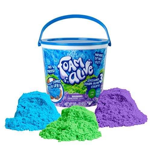 Foam Alive - 300g Bulk Bucket for Mixing, Molding and Melting - 3 Colors of Soft, Squishy, Fluffy Foam