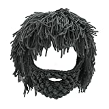NNIUK Winter Lustige Unisex Bart Hüte Warm Fancy Bart Maske für Halloween Weihnachten Cosplay...