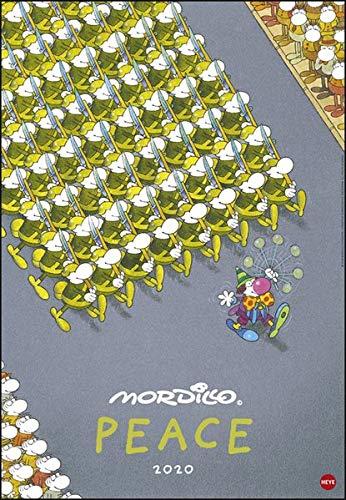 Mordillo Peace Edition. Wandkalender 2020. Monatskalendarium. Spiralbindung. Format 37 x 53,5 cm