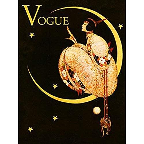 zachking Vogue Fashion Lady Moon Blumen Sterne 12 & Quot X 16 & Quotbild Größe Vintage Poster Repro Prints Poster Amp-drucke. 60x90cm Framed