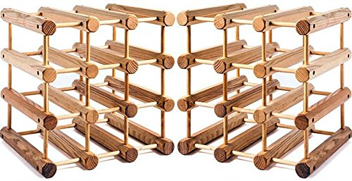J.K. Adams Natural Wood Wine Rack 24 Bottle MRW B12 N X2