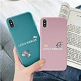 [saymi's] トムとジェリー iPhone ケース 携帯カバー 携帯ケース スマホ キャラクター かわいい ピンク くすみカラー ブルー 青 小さいねずみ 赤ちゃんねずみ ニブルス 韓国 人気 iPhone7/8 7/8plus X/Xs XR iphone11 11pro 11promax (iPhoneXR, ピンク)