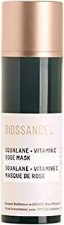 Biossance Squalane + Vitamin C Rose Mask - Bouncy Facial Gel Mask with Vitamin C + Damascus Rose - Visibly Brighten + Firm...