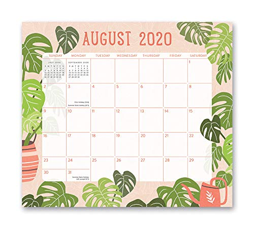 Magnetic Monthly Calendar Pad 2021 in Growing Together by Orange Circle Studio - 8' x 10' 17-Month Daily Planner & Organizer with Magnetic Tab - Hang on Fridge, Cabinet or for Desktop