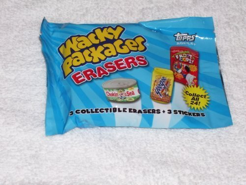 Topps Wacky Packages - Erasers Series 2 - Pack (3 Erasers & 3 Stickers) by Topps