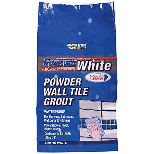 Everbuild FWPOWGROUT1 Forever White Powder Wall Tile Grout with Mould...