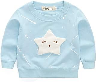 ملابس الاطفال Baby Girls Clothing Cartoon Pentagram Pattern Long Sleeve T Shirt Casual Tops, Size:L(Pink) ملابس الأولاد (Color : Light Blue)