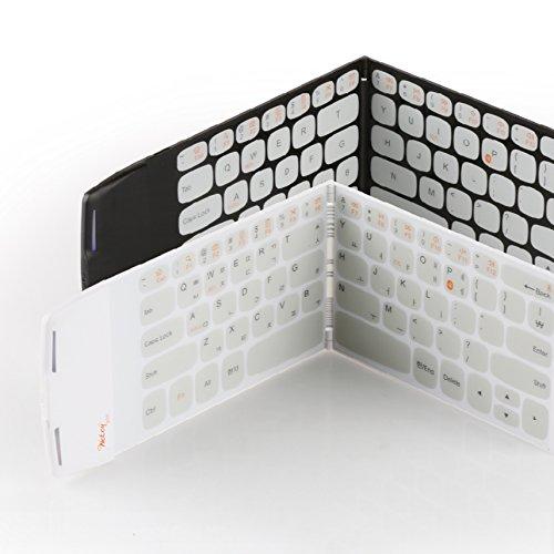 WEKEY - Teclado plegable de bolsillo, inalámbrico con Bluetooth 4.0, el teclado más compacto del mundo, color negro Teclado inglés / coreano fabricado en Corea.