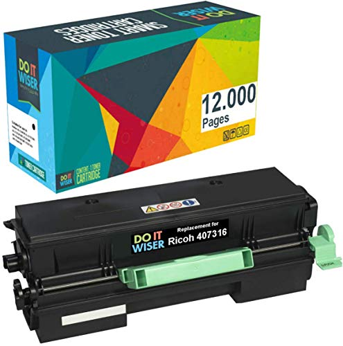 Do it Wiser Compatible Black Toner Cartridge Replacement for Ricoh 407316 Ricoh SP 4510DN SP 3600DN SP 3600DN SP 3600SF SP 3610SF SP 4510SF SP 4500HA | High Yield 12,000 Pages