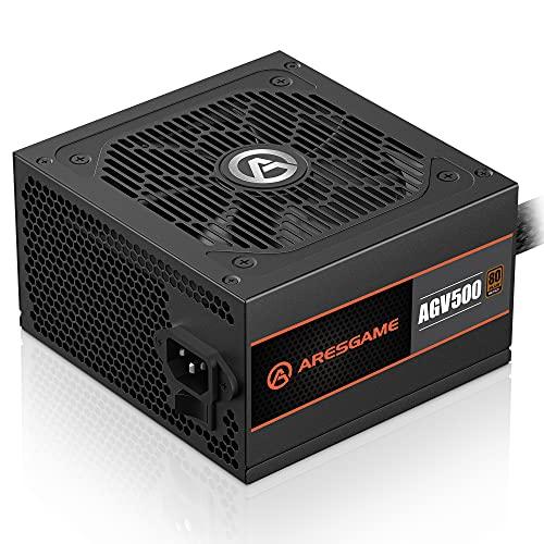 Power Supply 500W 80 Plus Bronze Certified PSU (ARESGAME, AGV500)