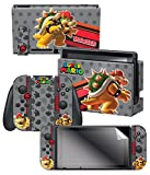 Controller Gear Nintendo Switch Skin & Screen Protector Set, Officially Licensed By Nintendo - Super Mario Evergreen 'Bowser' - Nintendo Switch