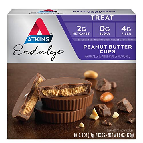 Atkins Peanut Butter Cups. Rich and Creamy Treats with Choco and Peanut Butter. (10 Cups per Box)