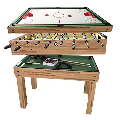 haxTON 5 in 1 Multifunction Combination Game Table Multi Game Table with Pool Table, Air Hockey Table, and Foosball Table for Children and Adult (43 inches)